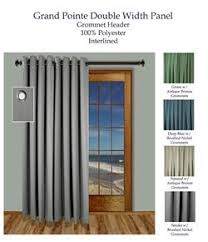 Double Wide Grommet Curtain Panels Curtains U0026 Drapes In Extra Wide Sizes