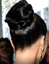 hairstyles for oily black hair oiled top knot bun with braid slick pinterest oily hair