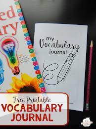 Antonym For Volunteer Free Vocabulary Journal For Kids The Measured Mom