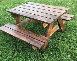 Kids Outdoor Picnic Table Kids Picnic Table Etsy