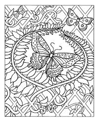 difficult butterfly insects coloring pages for adults justcolor