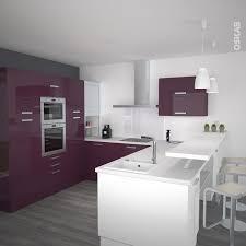 cuisine blanc et noyer superb cuisine blanche et noyer 1 cuisine aubergine mod232le