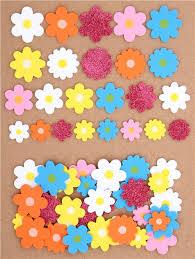 colorful flower glitter 3d foam sticker by kamio japan