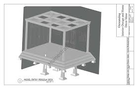 deck ground level deck plans with gazebo and pool for outdoor
