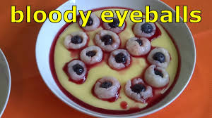 bloody eyeballs in pus u0026 cocktail decoration halloween recipe
