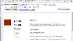 basic resume outlines google use google docs resume templates for a free good looking resume