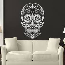 decoration murale picture more detailed picture about mexican mexican sugar skull office stickers dia de los muertos vinyl wall sticker decal adesivo de parede