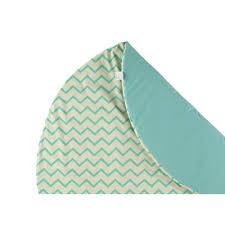 nobodinoz tour de lit tapis de jeu apache en coton zig zag vert nobodinoz jouet et