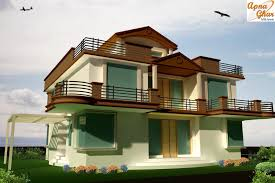 3d elevation concept for a 2 story home gharexpert