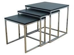 table basse bout de canapé bout de canapé valse coloris noir chrome vente de table basse