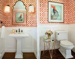 Small Powder Room Images Cheerful Spunk Enliven Your Powder Room With A Splash Of Orange