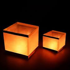 japanese lantern table l 100pc lot waterproof retro chinese wishing lantern square water