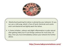 how to care for your baby u0027s name tattoo