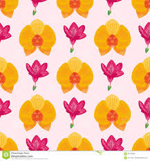 hand drawn flower seamless pattern wallpaper with print ornament