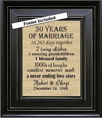 50 year anniversary gift framed 50th wedding anniversary 50th anniversary gifts 50th