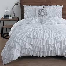 Ruffle Bedding Set 5 Circle Ruffle Comforter Set By Avondale Manor