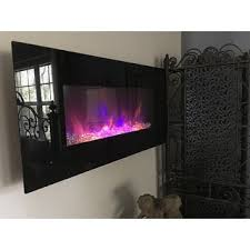 36 Electric Fireplace Insert by Electric Fireplace Wall Mounted Led Fire U0026 Ice Flame With Remote