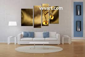 4 piece music yellow photo canvas music wall art living room wall decor 4 piece canvas art prints note
