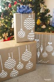 stenciling diy gift wrap stencil stories