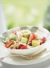 cuisiner le crabe salade de crabe et de fraises au citron vert ricardo