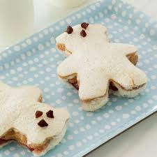 peanut butter and banana teddy bear sandwiches recipe taste of home