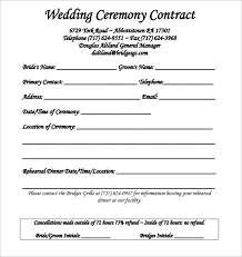 wedding contract template 23 download free documents in pdf