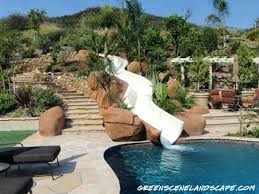bocce water slide and swimming pool water slides for backyard