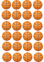 basketball cake topper 24 basketball sports edible cake topper wafer rice paper cake