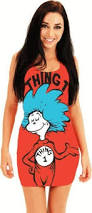 1 2 Halloween Costume Amazon Mighty Fine Women U0027s Dr Seuss 1 2