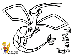 download pokemon coloring pages flygon