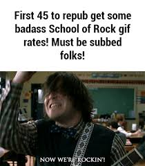 School Of Rock Meme - school of rock gif find share on giphy