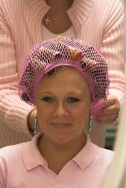husband forced to sleep in hair rollers oh how i loved going to the beauty salon today i have a pink net