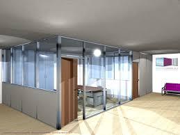 cloison vitr bureau types de configuration en vue 3d espace cloisons alu ile de