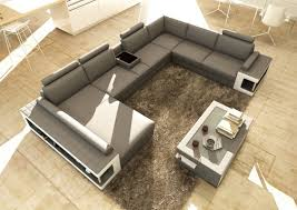 White Leather Coffee Table Divani Casa 5080 Grey And White Leather Sectional Sofa W Coffee Table