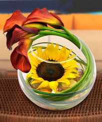 sunflower arrangements simply striking sunflower bowl floral arrangements beneva