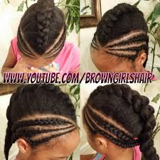 brown girls hair 2 quick cornrow styles
