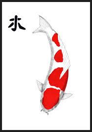 saatchi art japanese koi kohaku feng shui wood painting by gordon