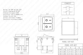 online shop 1pc kcd5 4pin double latching rocker switch o panle