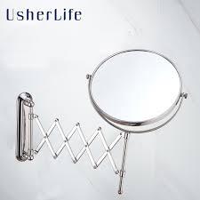 Wall Mounted Bathroom Mirrors Usherlife 8 Wall Mounted Bathroom Mirror Arm Extend Faced