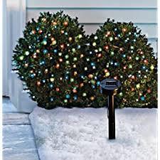 Solar Powered Christmas Tree Lights by Amazon Com Aleko 50 Led Solar Powered Christmas Holiday String