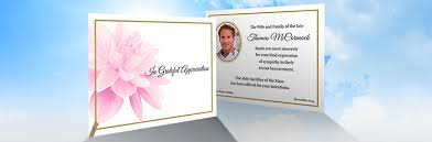 acknowledgement cards 2 sided archives memorial printers