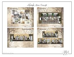 lifestyle store concept with a floor plan elevation view and