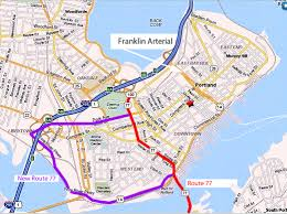 Downtown Portland Map by Traffic Calming In Portland Maine