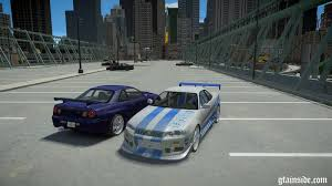 fast and furious online game gta 4 nissan skyline gt r r34 fast and furious 4 mod gtainside com