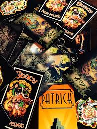 Card Tattoos Designs Our Awesome Business Cards Blue Velvet Tattoo And Piercing