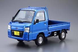 subaru sambar truck 1 24 subaru tt2 sambar truck wr blue limited u002711 aoshima english