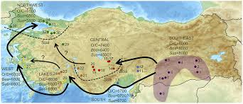 Fertile Crescent Map Map Of Turkey Showing The Location Of Sites Mentioned In This
