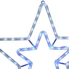 Christmas Rope Light Star by Flashing Star Rope Light With Blue White Led Lights U0026 White