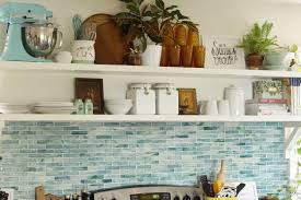 earthy vintage styled kitchen shelves and a survey cassie