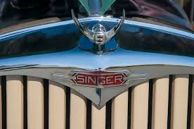 1950 singer 9 roadster ornament digital by chris flees